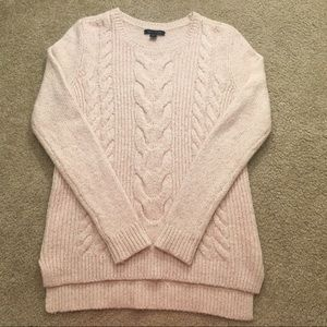 TOMMY HILFIGER pink and white knit sweater